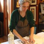 Marie-Hélène à l'oeuvre